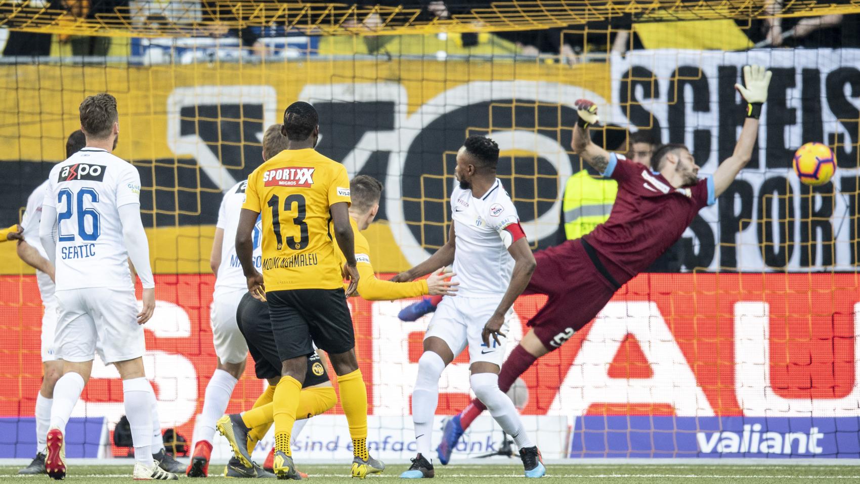 17.02.2019, BSC Young Boys - FC Zürich, Christian Fassnacht (YB) erzielt das Tor zum 1:0 (Urs Lindt/freshfocus)